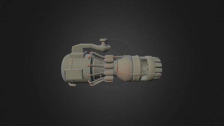 Spacecraft Propulsion 3D Model