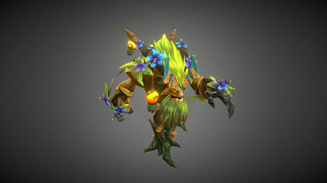 Dota 2 Workshop: Moonblossom Bloom 3D Model