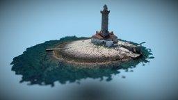 Porer lighthouse Croatia 3D Model