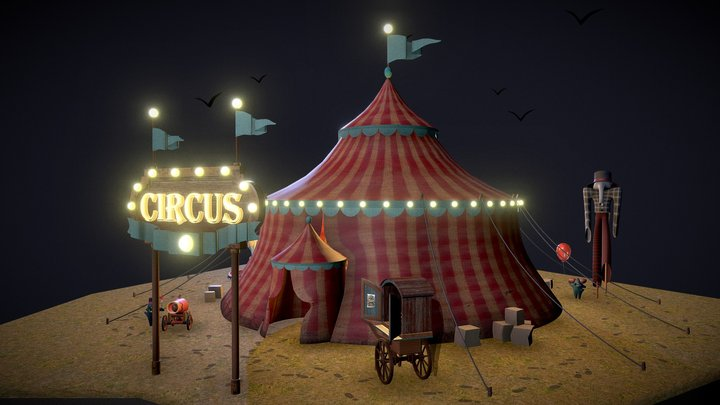 Monster Circus 3D Model