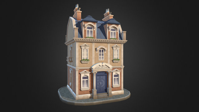 Modular Multistory Building 3D Model