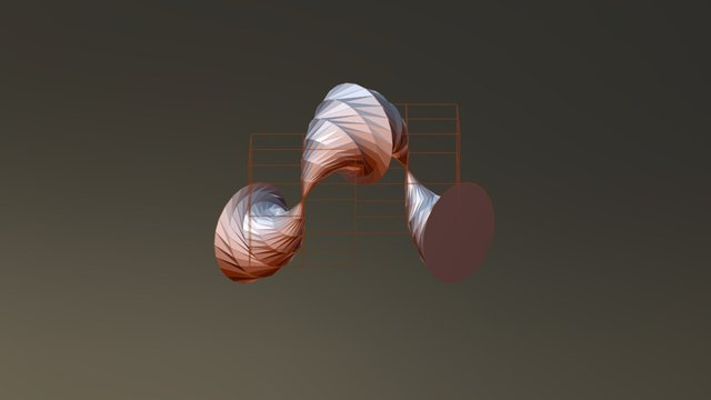 Twin opposing vortices 3D Model