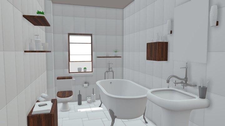 bathroom interior 1 3D Model