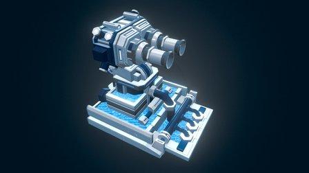Entrocore : Tidal Fortress 3D Model