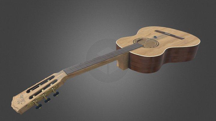 Classical guitar 3D Model