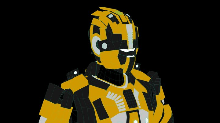 Bot Drop Blast Main Character 3D Model