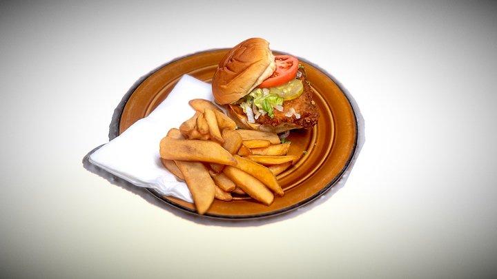 Chicken Sandwich 3D Model