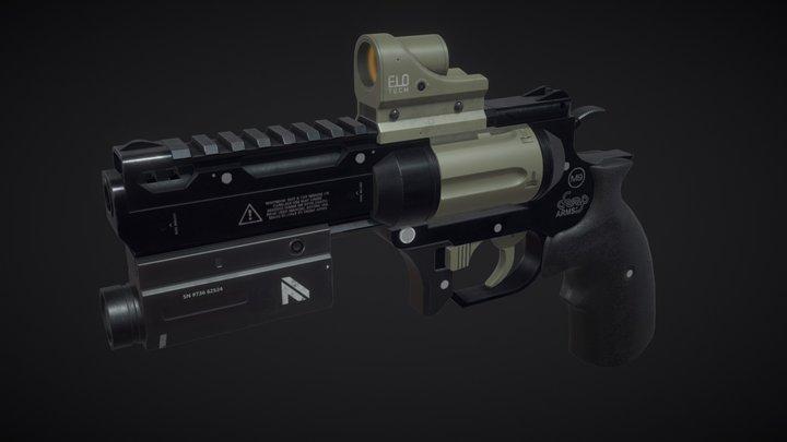 Revolver .357 Optics 3D Model
