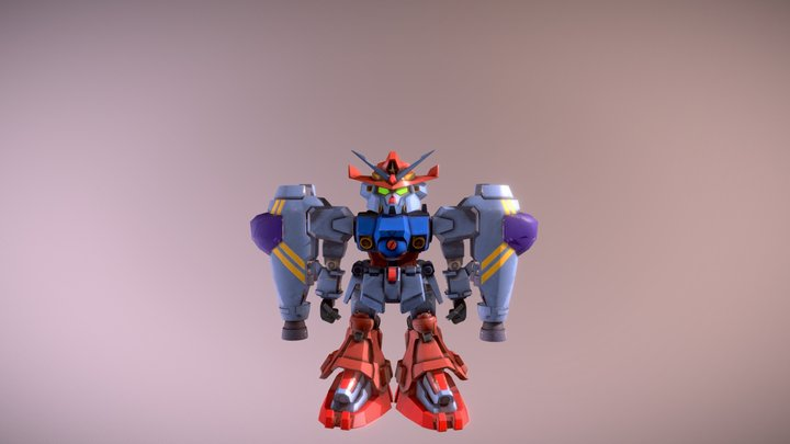 Texas Gundam Taking off 3D Model
