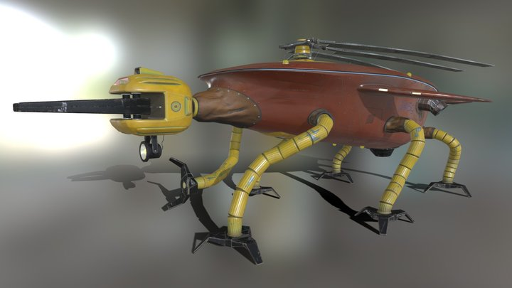 Engineering drone 3D Model