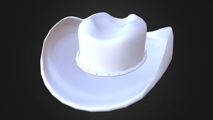Old Western Cowboy Hat V2 3D Model