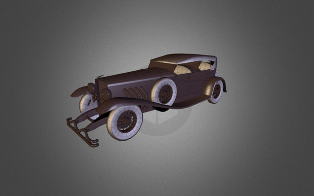 1935 Duesenberg Car 3D Model