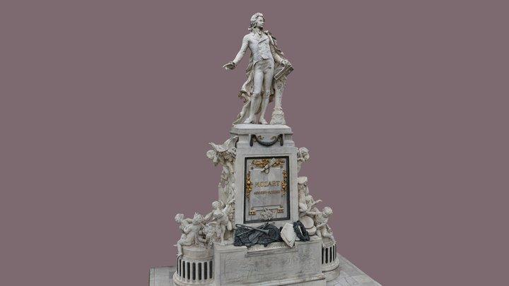 Mozart Burggarten Wien 3D Model