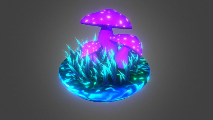 Mushrooms 1 3D Model