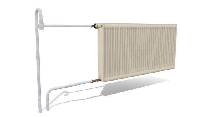 Wall-mounted Radiator 3D Model