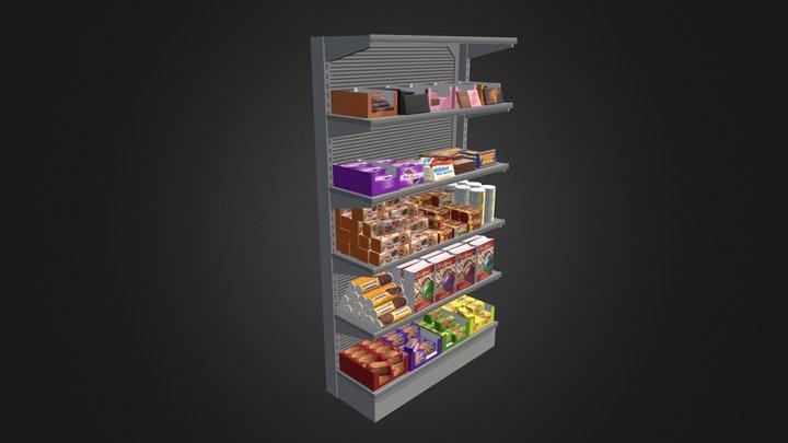 Market Shelf - Cookies and Chocolates 3D Model
