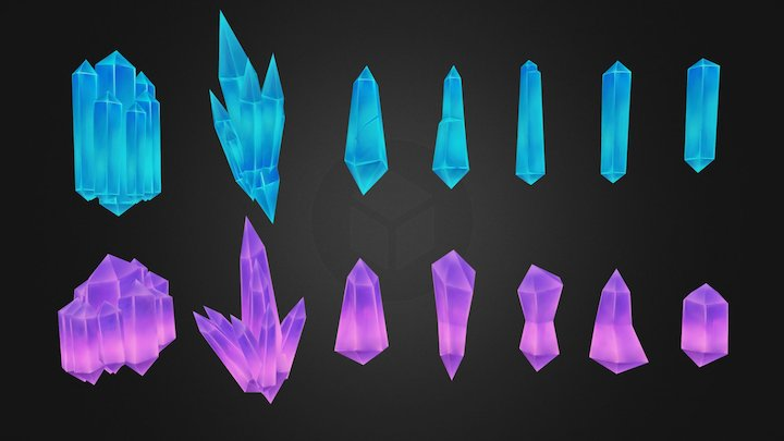 Crystal Formation Pack 1 3D Model