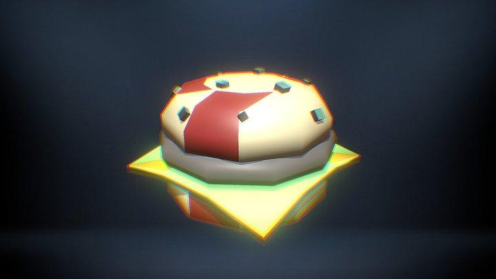 Moldy Burger - Blender 3D Model