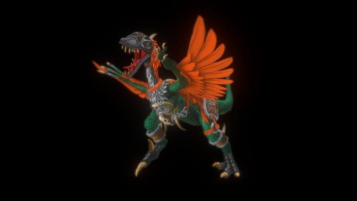 cartoonish raptor 3D Model