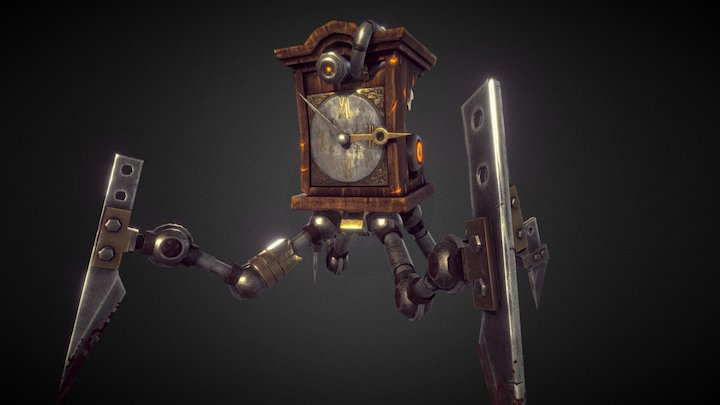 Clock Mob 3D Model