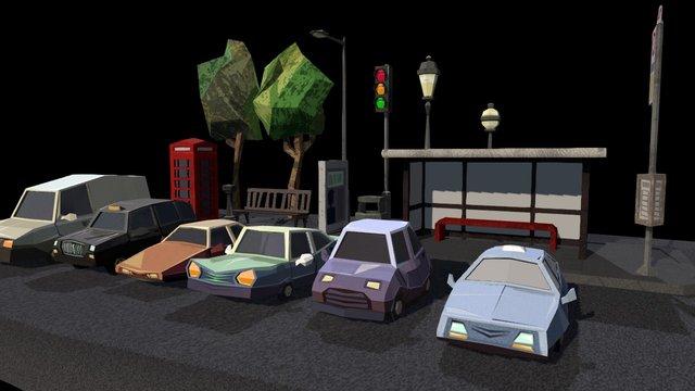 Between Us - City Props 3D Model