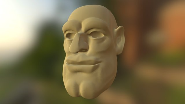 DwarfHead_HighP_01 3D Model