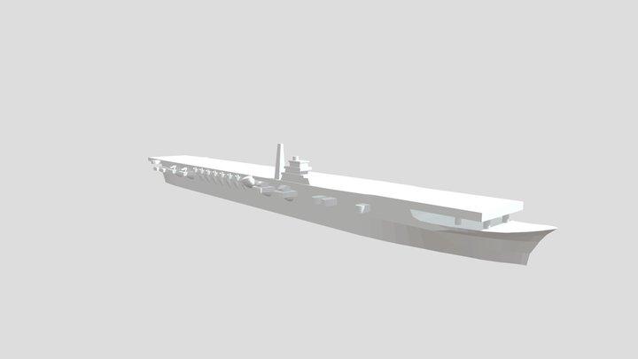 IJN Shoukaku - Model for 1/4000 printing 3D Model