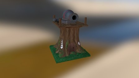 Treehouse Cannon 3D Model