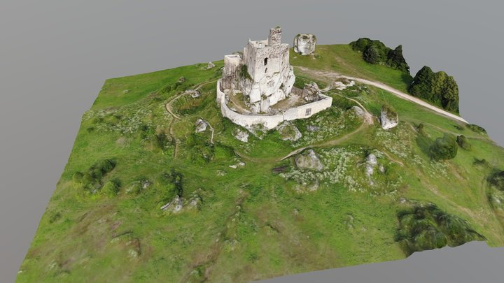 ruins castle in Mirow(PL) base on K. Lechowicz 3D Model