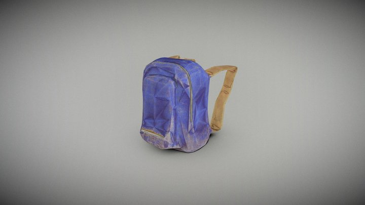 Lowpoly Back Pack 3D Model