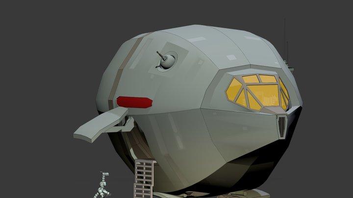 Sh'Rik-Class Ssi-Ruu Transport 3D Model