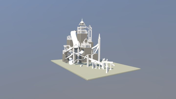 Ancient Ruins Marble Course 3D Model