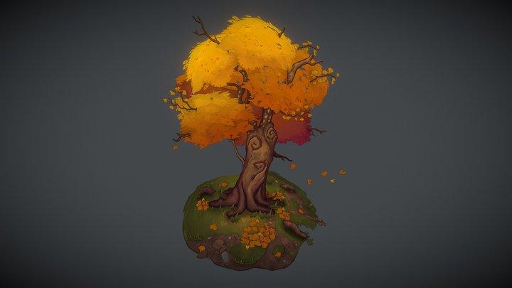2.5D Ginkgo Tree 3D Model