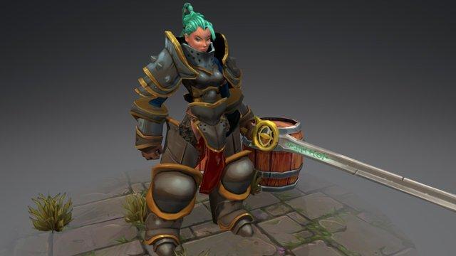 Knight Cassandra 3D Model
