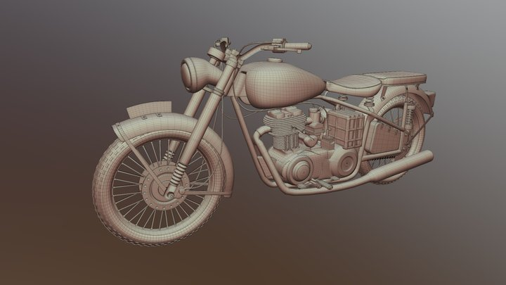 BSA Motorbike_1953 3D Model