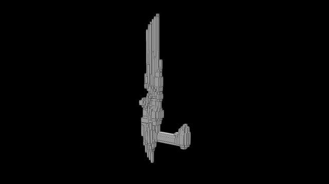 Fire Armblade 3D Model