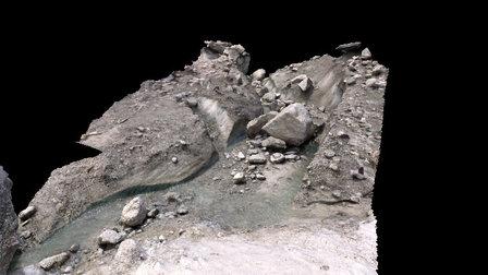 Supraglacial melt stream on the Mer de Glace 3D Model