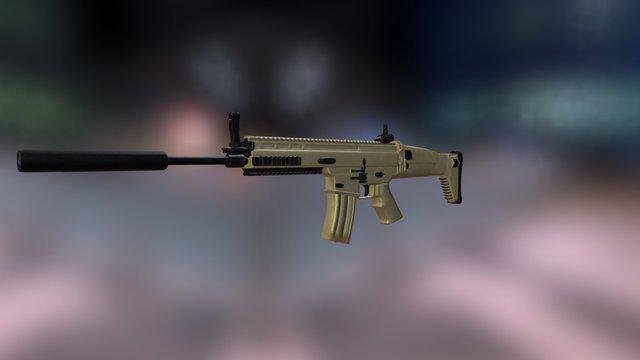 SCAR-L MK16 3D Model