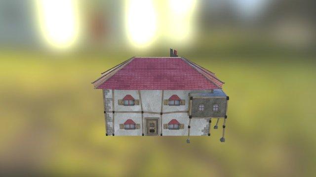 Large Fantasy House 3D Model