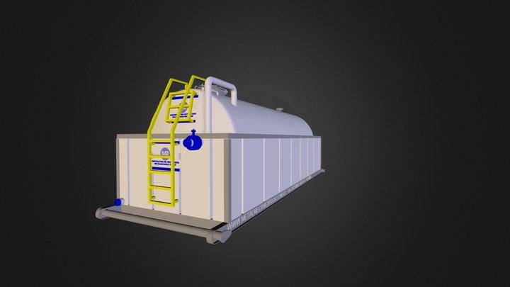 Tanque Cilindrico con Dique 5000 Gl s 3D Model