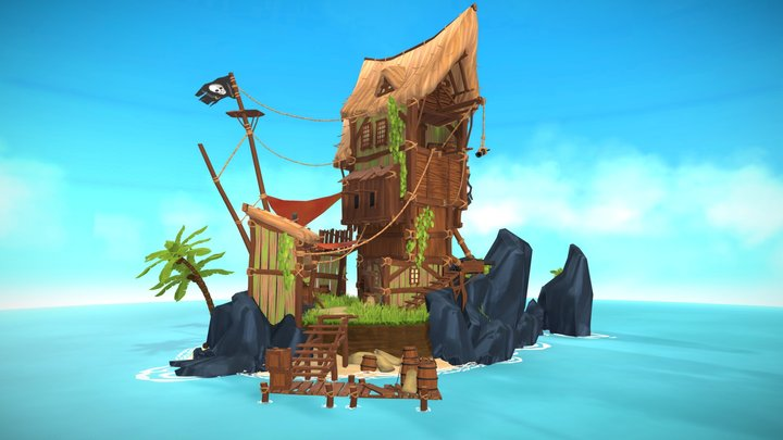 Pirate Island: Blacksmith's Bay 3D Model