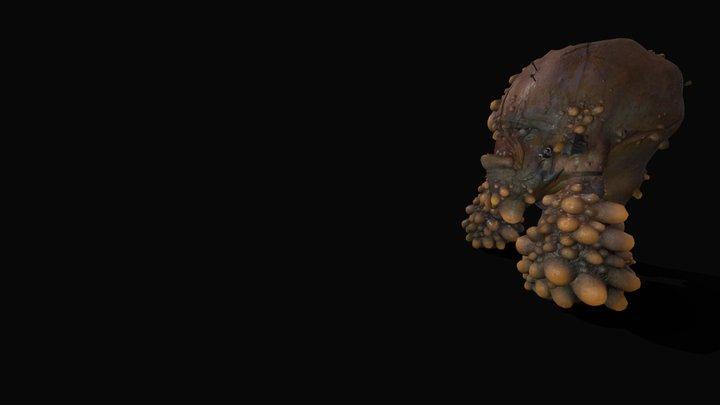 Mutant Boss Frog 3D Model