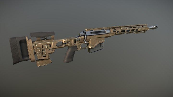 Remington Modular Sniper Rifle 3D Model