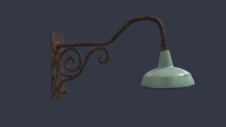 Old Streetlight 3D Model