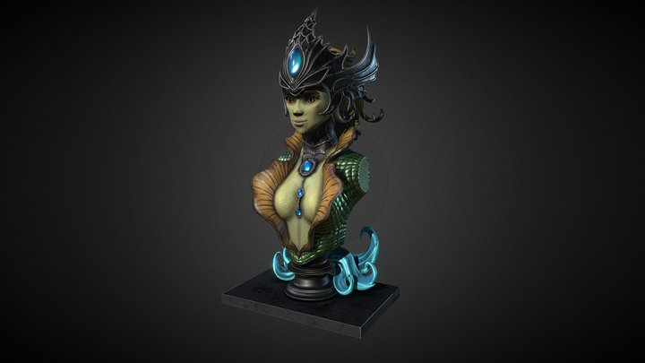 League of Legends - Nami Bust 3D Model