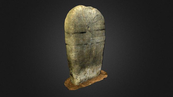 Statue-menhir de Pousthomy 2 3D Model
