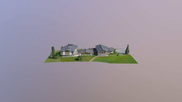 Alpine hotel 3D Model