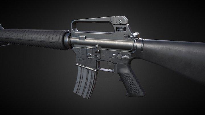 M16 A2 Rifle 3D Model