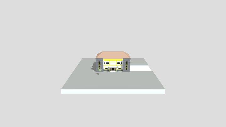 OBJ KANTOR PERTANAHAN 3D Model