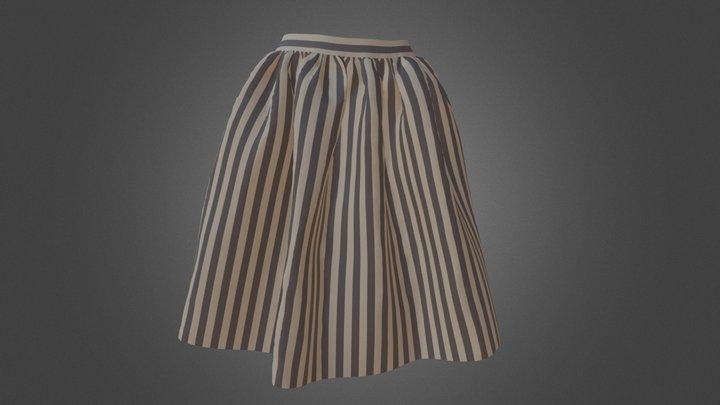 ギャザースカートの柄実験 3D Model